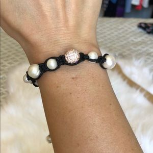 Jewelry - Pearl and rose gold ball bracelet